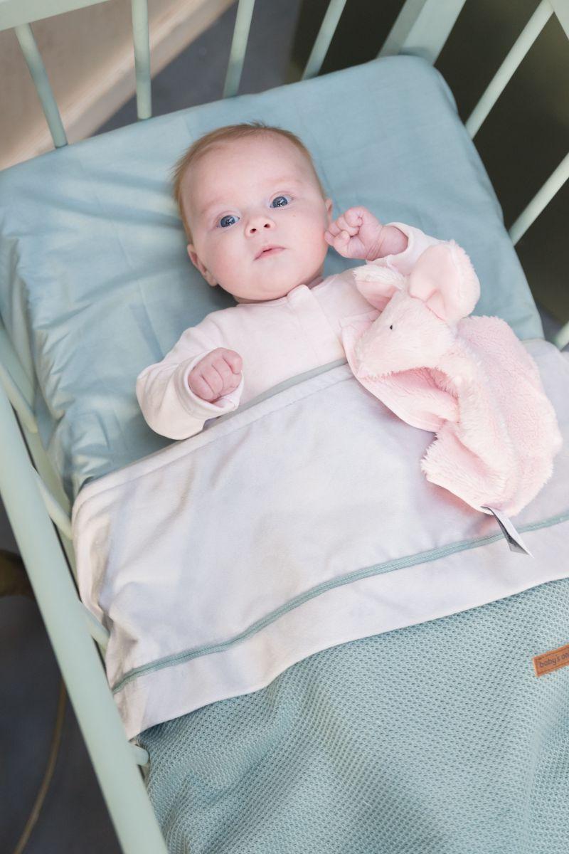 babys only 0200713 dekenovertrek 80x80 blush 2