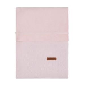 Dekenovertrek Classic roze - 80x80