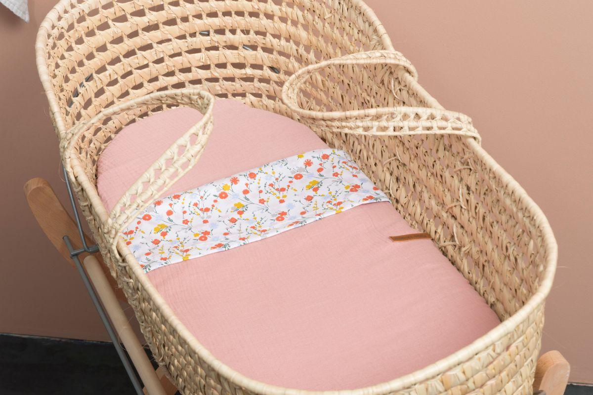 hoeslaken breeze oud roze 60x120