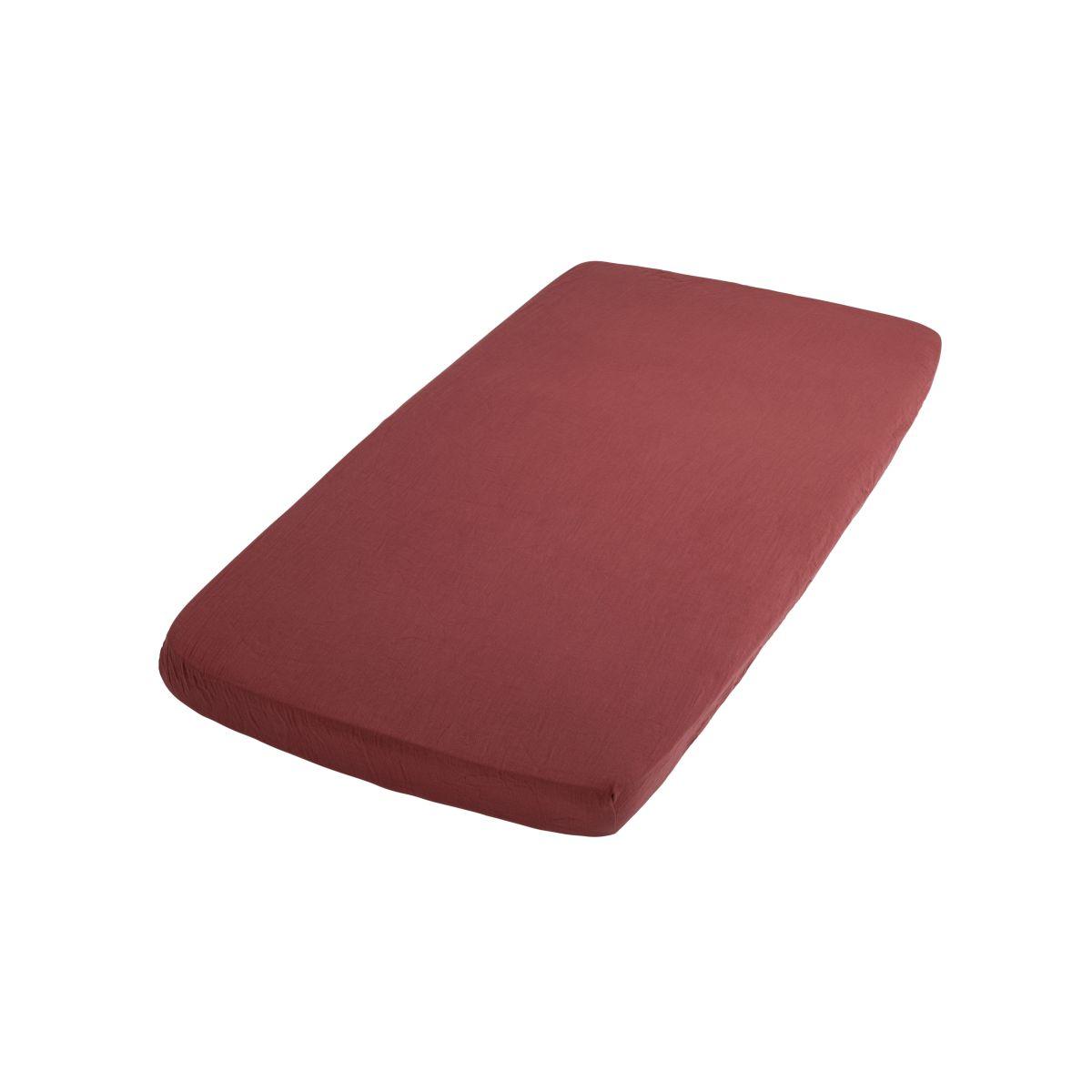 hoeslaken breeze stone red 40x80