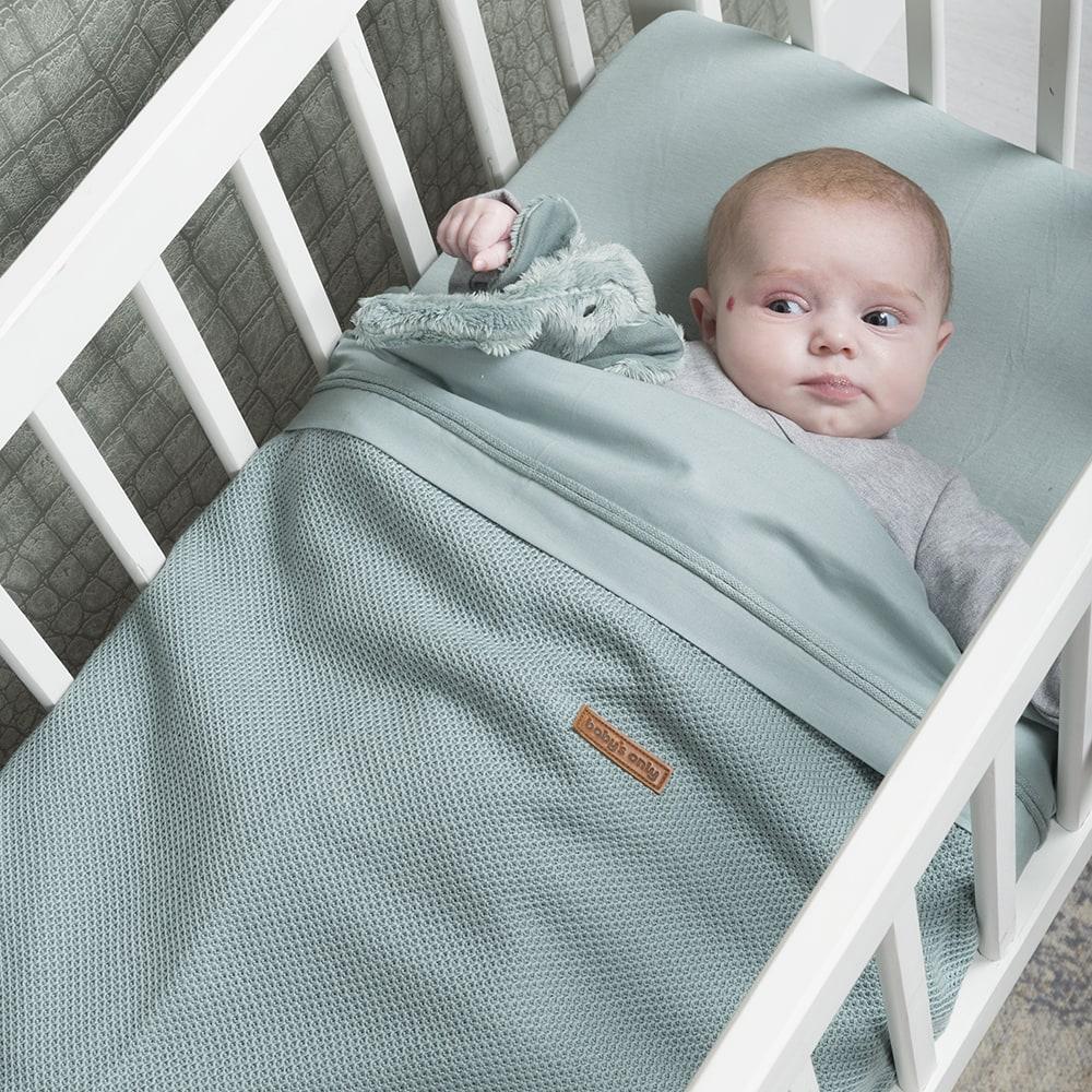 babys only 0768610 hoeslaken 70x140 stonegreen2