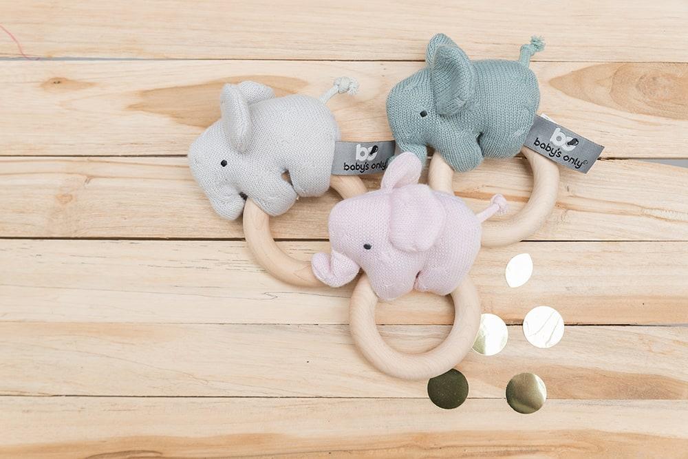 babys only bo81305400150 rammelaar olifant classic roze 2