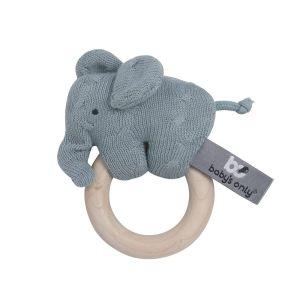 Houten rammelaar olifant stonegreen