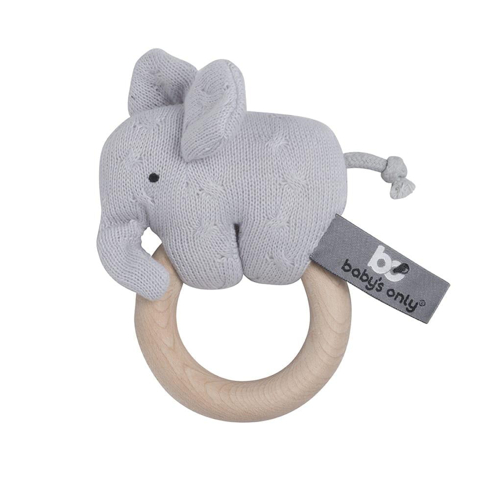 babys only bo81305400250 rammelaar olifant zilvergrijs 1