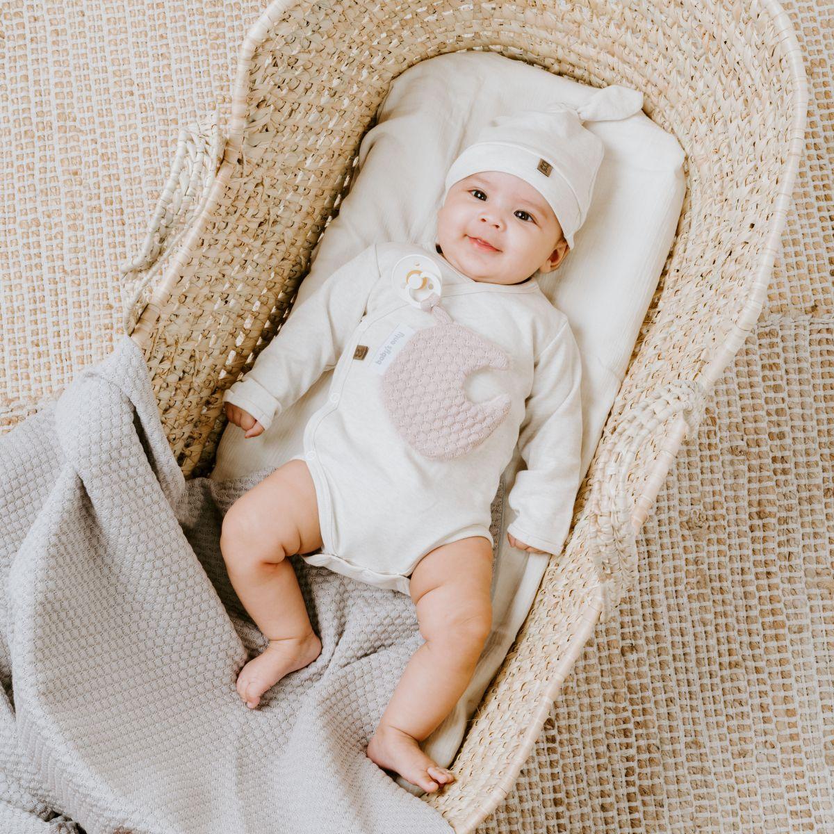 bo340325 babys only melage knoopmutsje 1