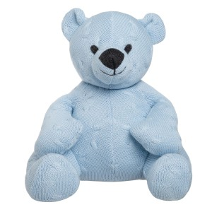 Knuffelbeer Cable baby blauw - 35 cm