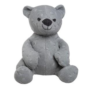 Knuffelbeer Cable grijs - 35 cm