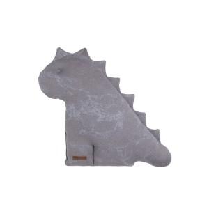 Knuffeldino Marble cool grey/lila - 40 cm