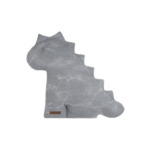 Knuffeldino Marble grijs/zilvergrijs - 40 cm