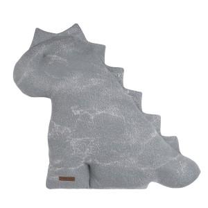 Knuffeldino Marble grijs/zilvergrijs - 55 cm
