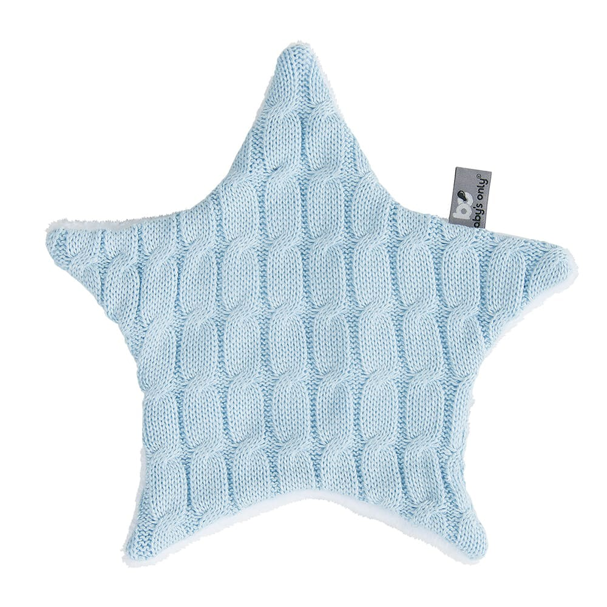 babys only 0133620 knuffeldoekje ster cable baby blauw 1