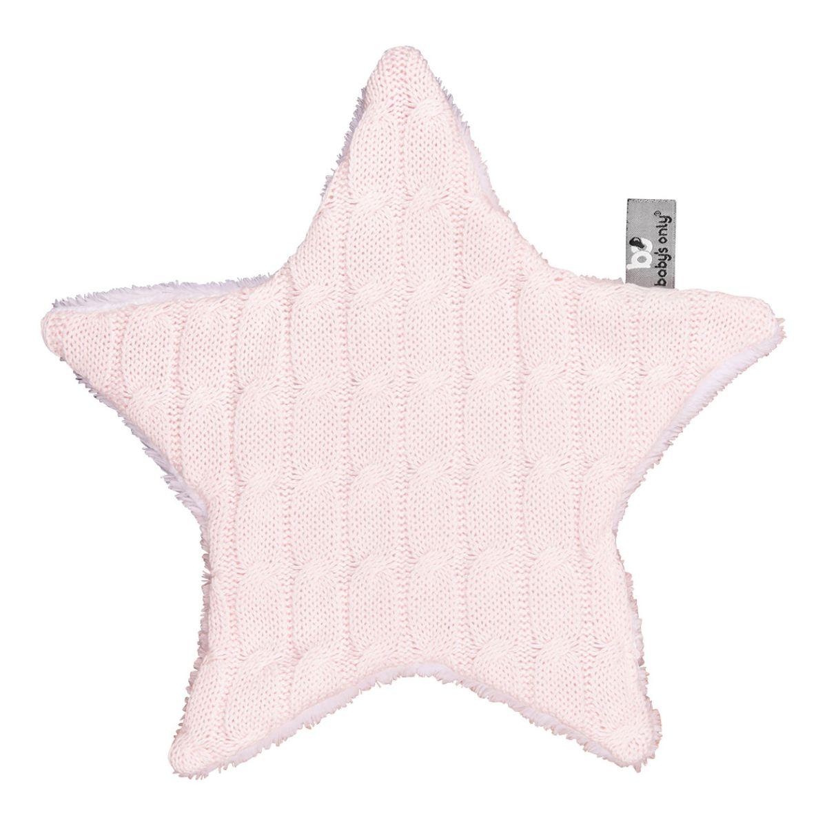 babys only 0133601 knuffeldoekje ster cable classic roze 1
