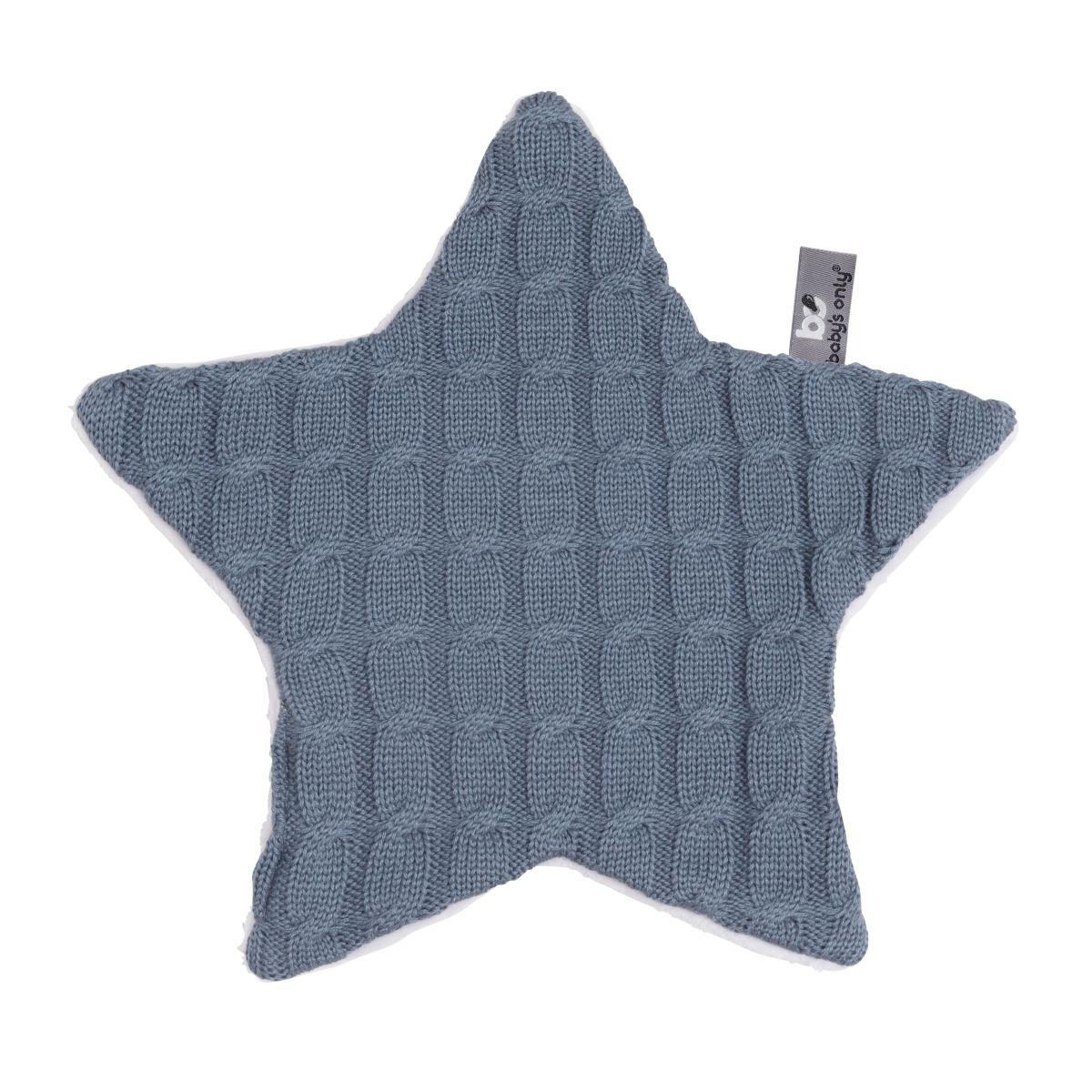babys only bo013036018 cable knuffeldoekje ster granit 1