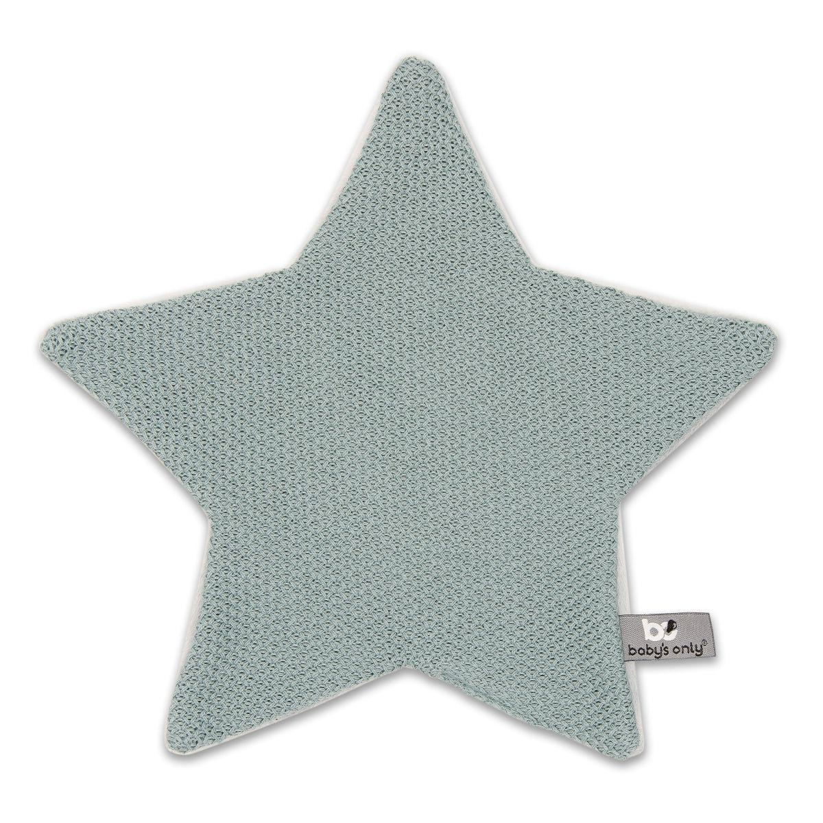 babys only 0203610 knuffeldoekje ster classic stonegreen
