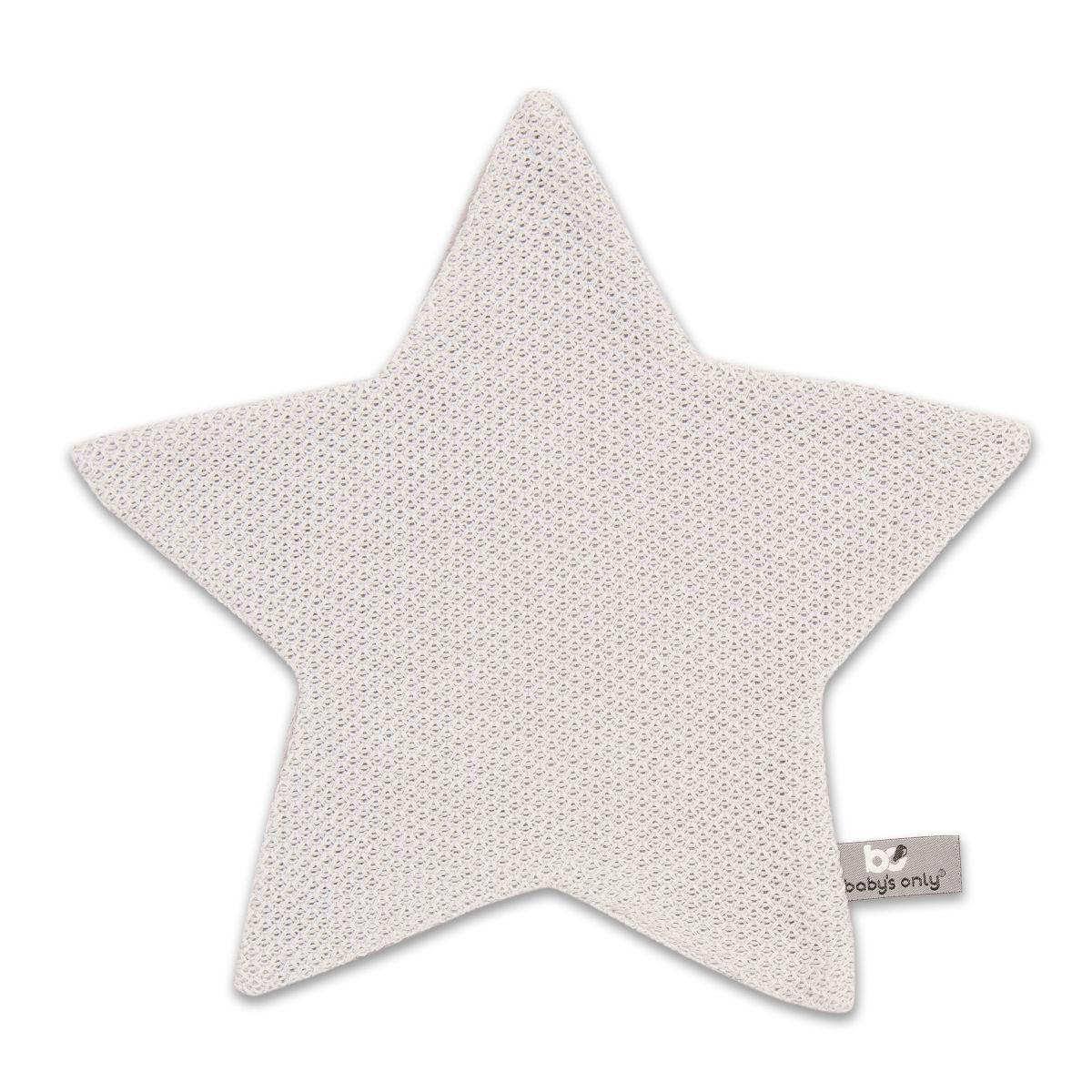 babys only 0203602 knuffeldoekje ster classic zilvergrijs