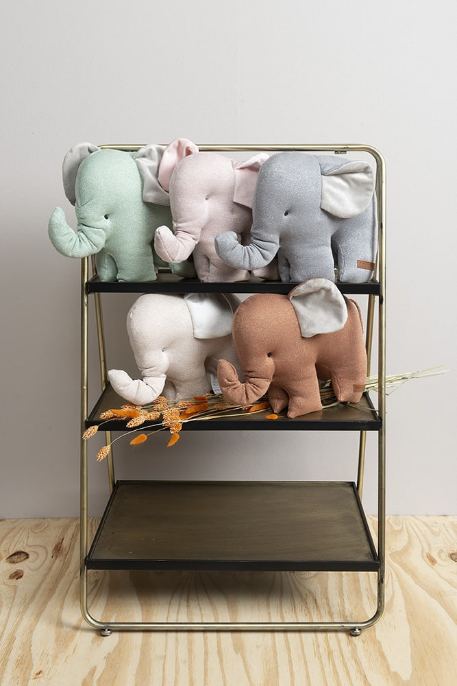 knuffelolifant sparkle goudmint mlee