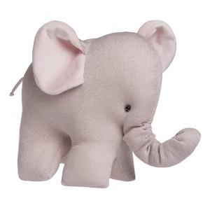 Knuffelolifant Sparkle zilver-roze mêlee