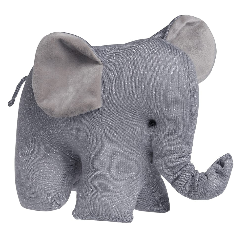 babys only 0405472 knuffelolifant sparkle zilvergrijs melee 1