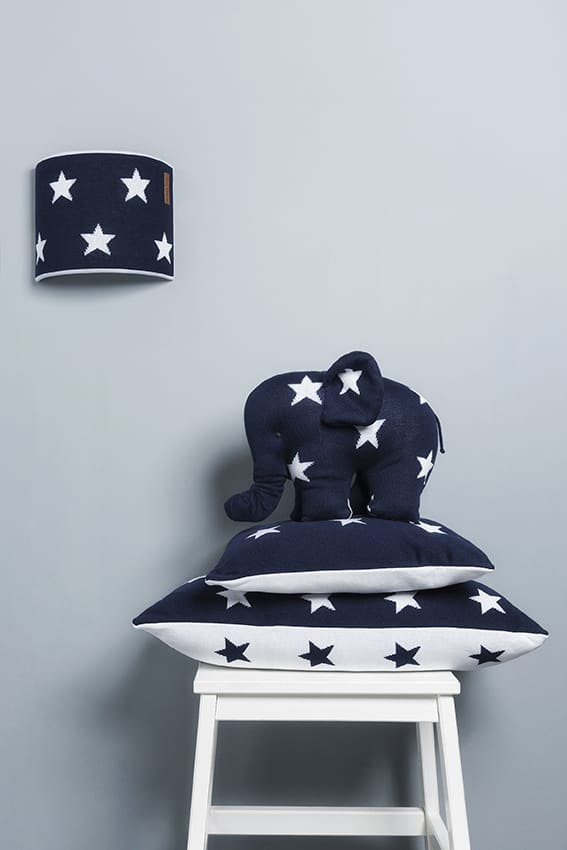 knuffelolifant star baby blauwgrijs
