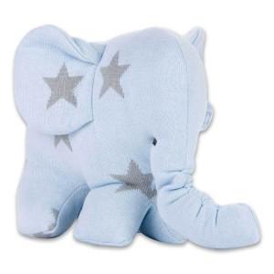 Knuffelolifant Star baby blauw/grijs