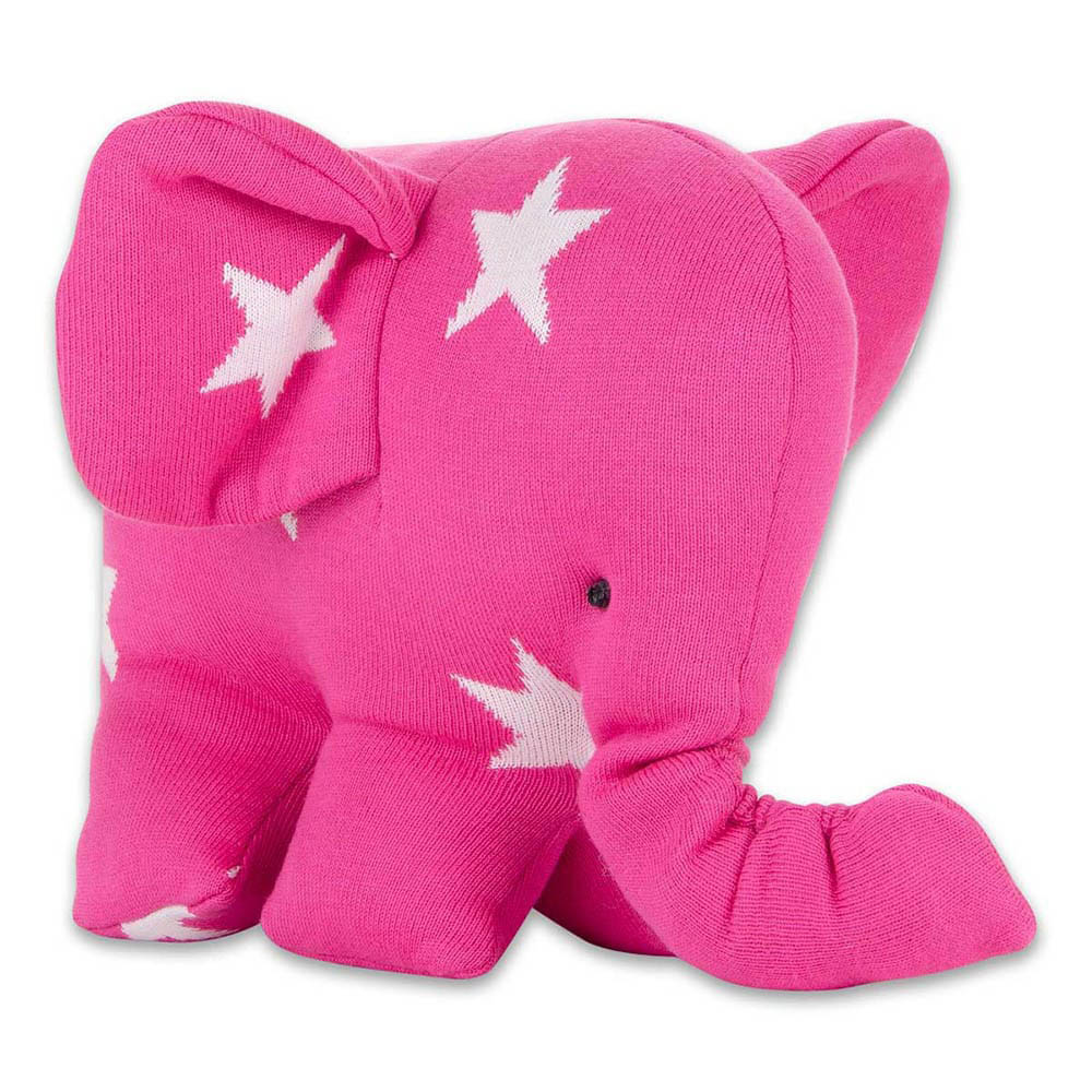 babys only 0915496 knuffelolifant star fuchsia wit 1