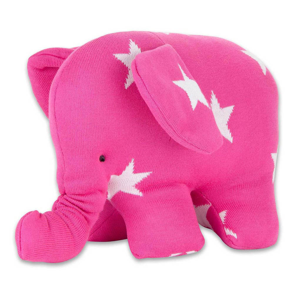 babys only 0915496 knuffelolifant star fuchsia wit 2