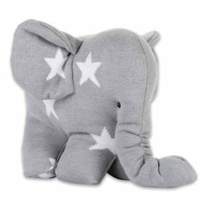 Knuffelolifant Star grijs/wit