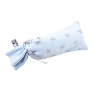 Kruikenzak Star baby blauw/grijs