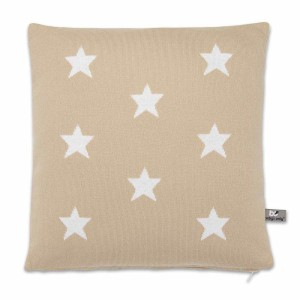 Kussen Star beige/wit - 40x40