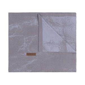 Ledikantdeken Marble cool grey/lila