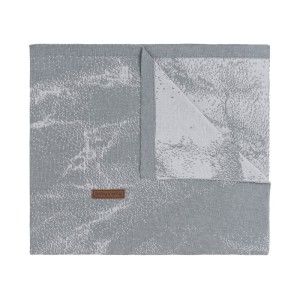 Ledikantdeken Marble grijs/zilvergrijs