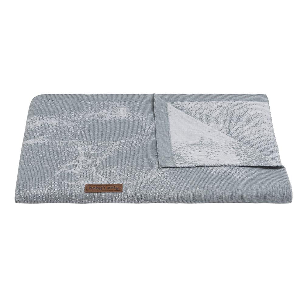 babys only 0216582 ledikantdeken marble grijs zilvergrijs 2