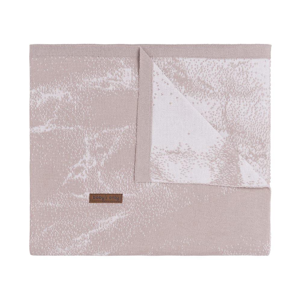 babys only 0216584 ledikantdeken marble oud roze classic roze 1