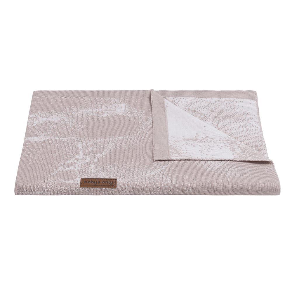 babys only 0216584 ledikantdeken marble oud roze classic roze 2