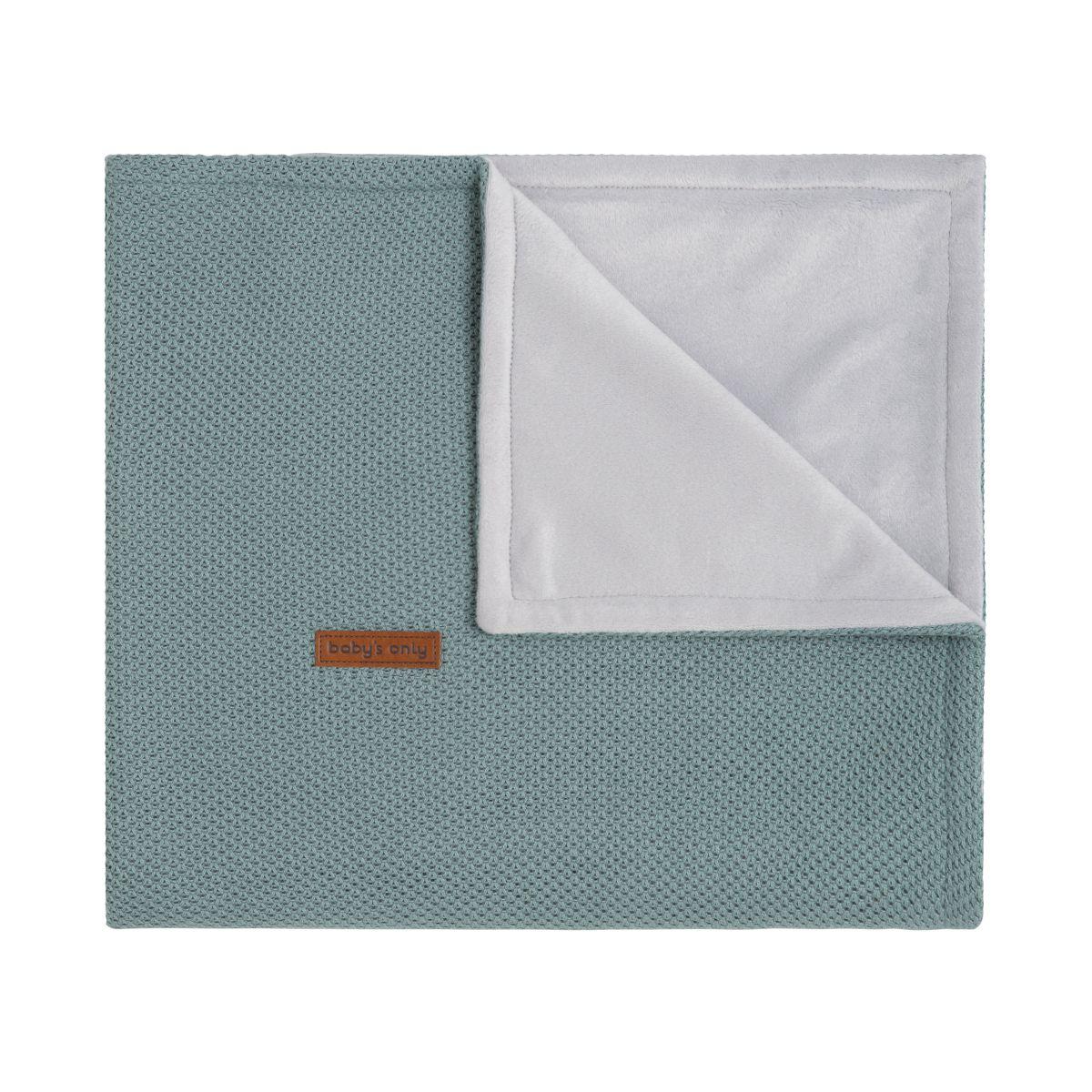 babys only 0201110 ledikantdeken soft classic stonegreen