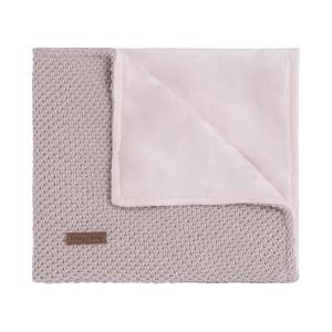 Ledikantdeken soft Sparkle-Flavor zilver-roze mêlee