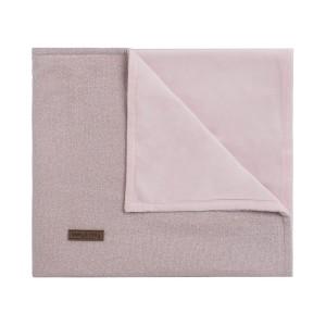 Ledikantdeken soft Sparkle zilver-roze mêlee