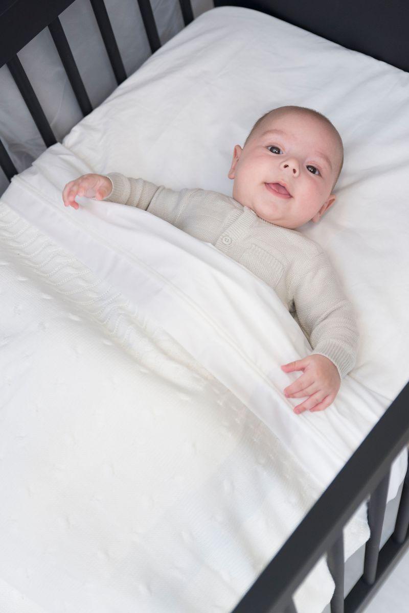 babys only bo01301301850 ledikantdeken teddy cable granit 2