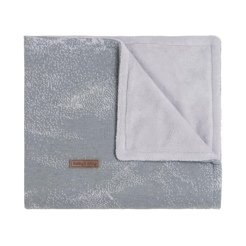 babys only 0211182 ledikantdeken teddy marble grijs zilvergrijs 1