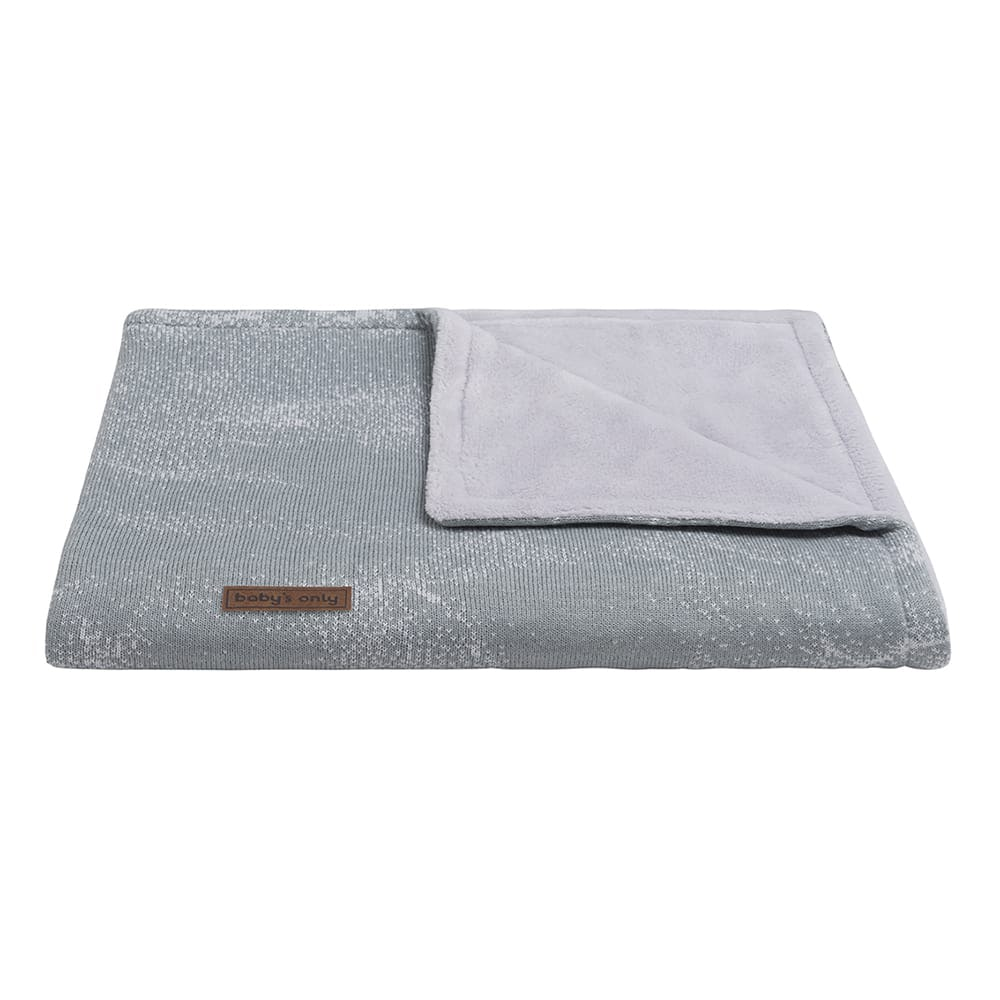 babys only 0211182 ledikantdeken teddy marble grijs zilvergrijs 2