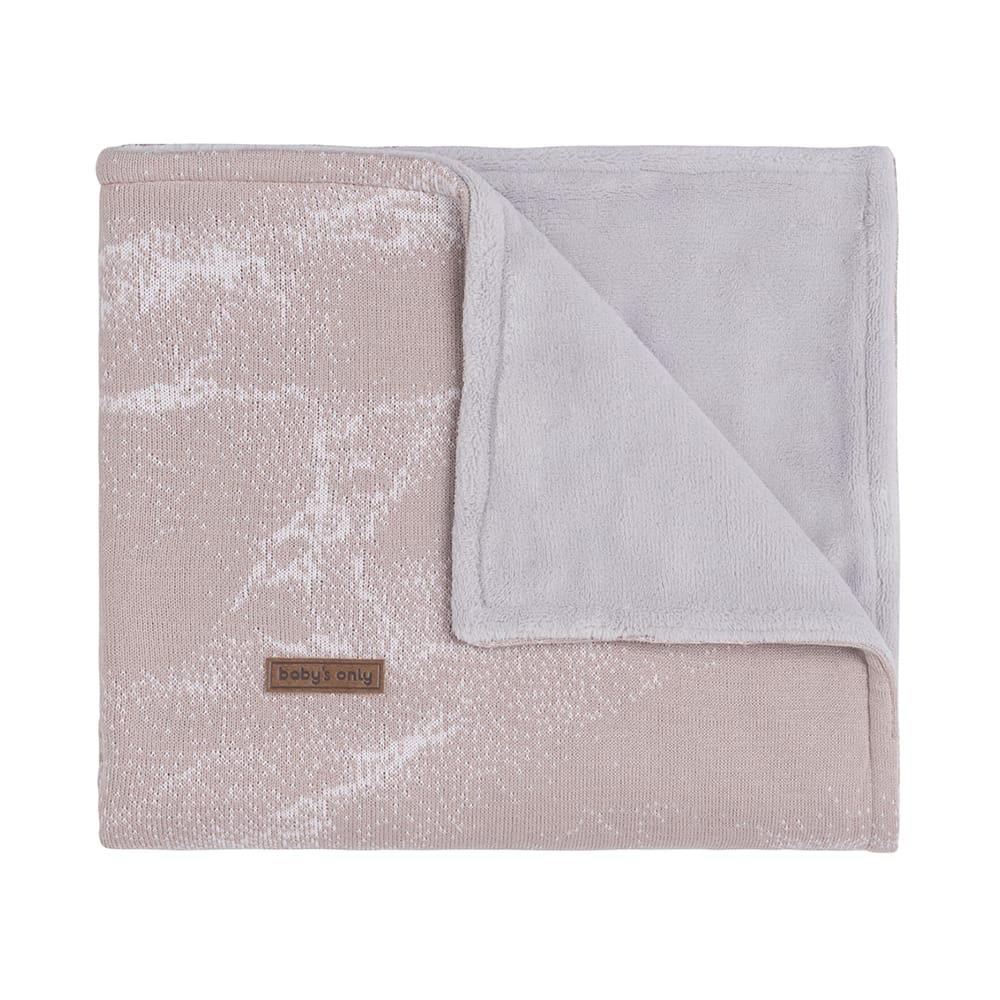 babys only 0211184 ledikantdeken teddy marble oud roze classic roze 1