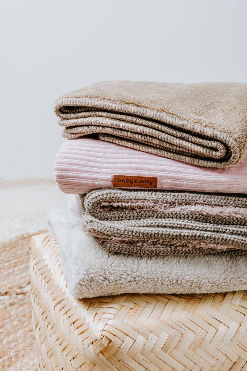 babys only bo02401300750 ledikantdeken teddy sense oud roze 4