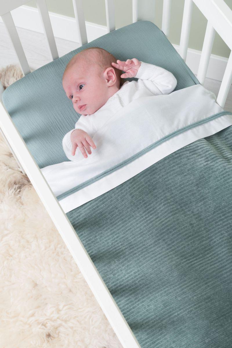 ledikantdeken teddy sense zeegroen
