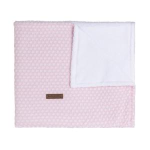 Ledikantdeken teddy Sun classic roze/baby roze