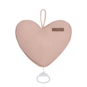 Muziekdoos hart Classic blush