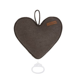 Muziekdoos hart Classic cacao
