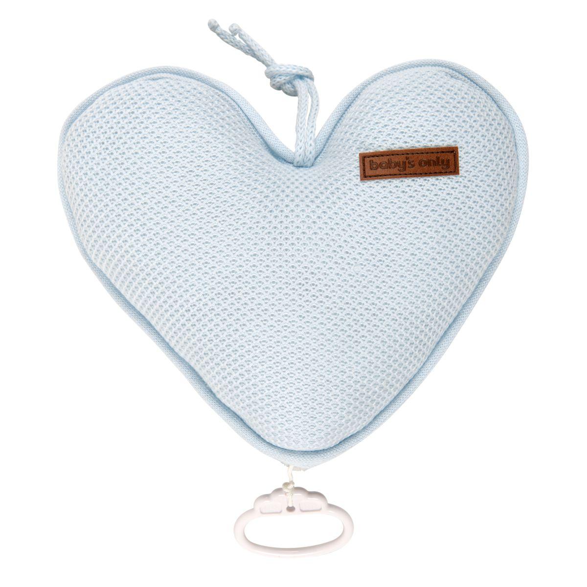 babys only 0204606 muziekdoos hart classic poederblauw