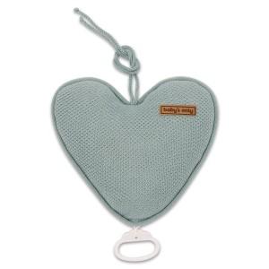 Muziekdoos hart Classic stonegreen