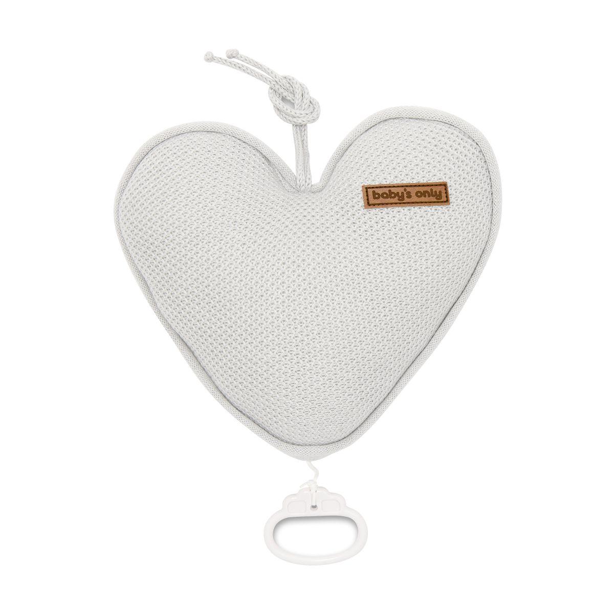 babys only 0204602 muziekdoos hart classic zilvergrijs