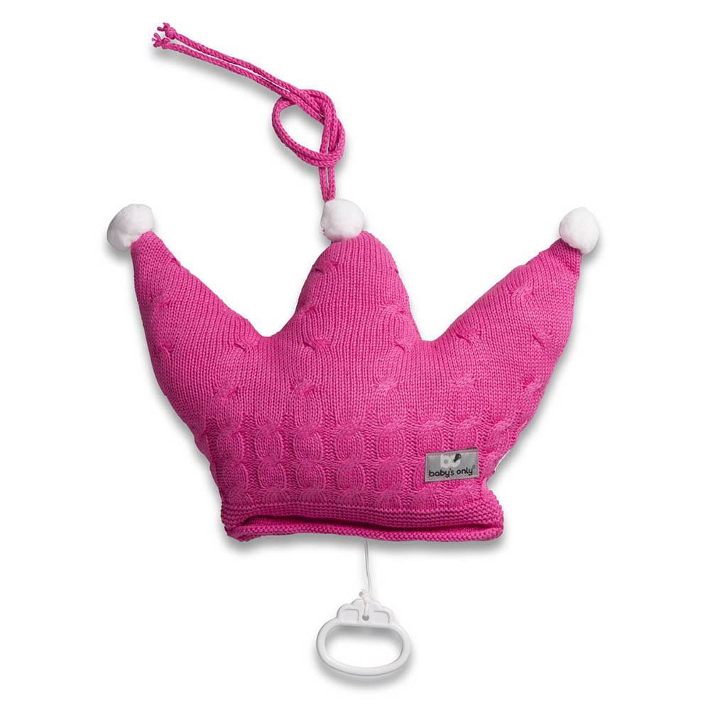 babys only 0132316 muziekdoos kroon cable fuchsia